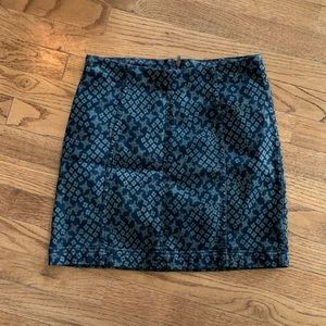Free People Black and Green Skirt